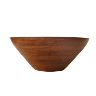 Danish Mid-Century Modern Staved Teak Bowl by Digsmed C1950s For Sale