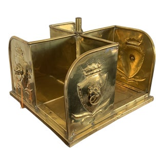 Late 19th Century English Brass Table Top Book Carousel For Sale