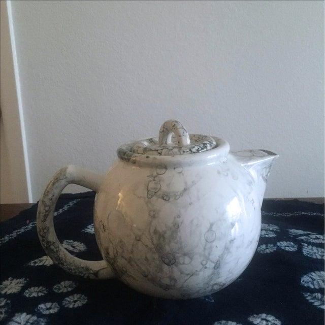 Marblelized Enamel Teapot - Image 2 of 4