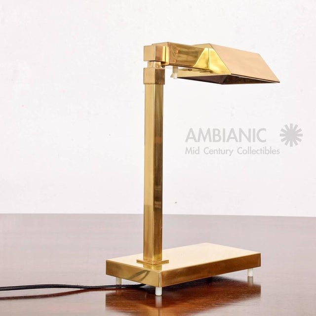 Mid-Century Modern Brass Table Desk Lamp For Sale In San Diego - Image 6 of 9