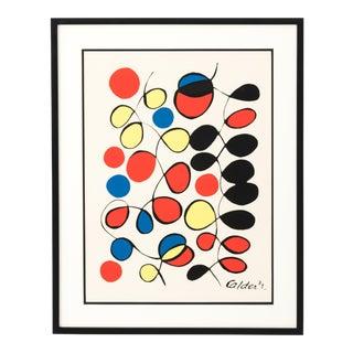 1971 Alexander Calder Newly Framed Lithograph For Sale