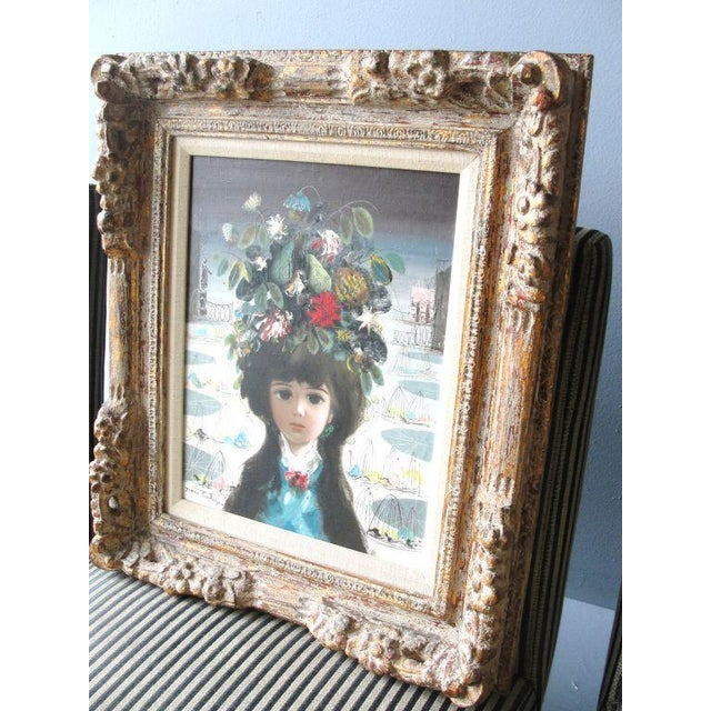 "Jean Calogero Oil Painting ""Patrizia"" (signed) - Image 3 of 8"