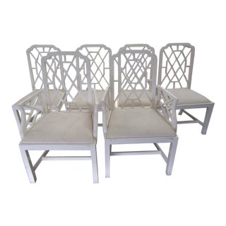 Fretwork Dining Chairs - Set of 6 For Sale