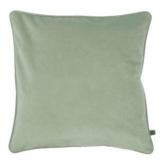 Contemporary Dusky Green Opulence Cushion For Sale