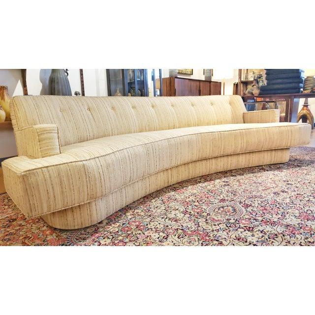 Mid-Century Modern Harvey Probber Custom Curved Sofa For Sale - Image 9 of 9