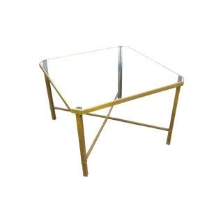 Italian Modern Glass Top Coffee Table For Sale
