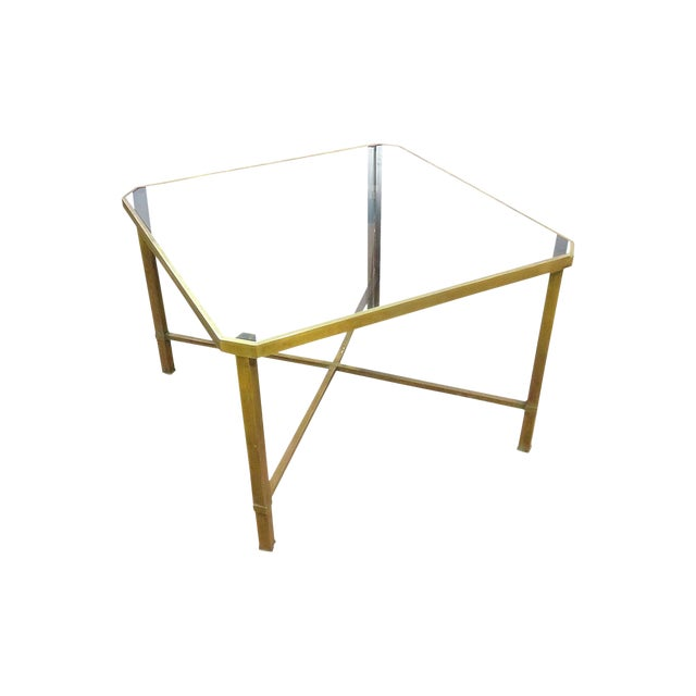 Italian Modern Glass Top Coffee Table For Sale