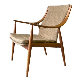 Mid Century Modern Teak Lounge Chair by Peter Hvidt for John Stuart For Sale