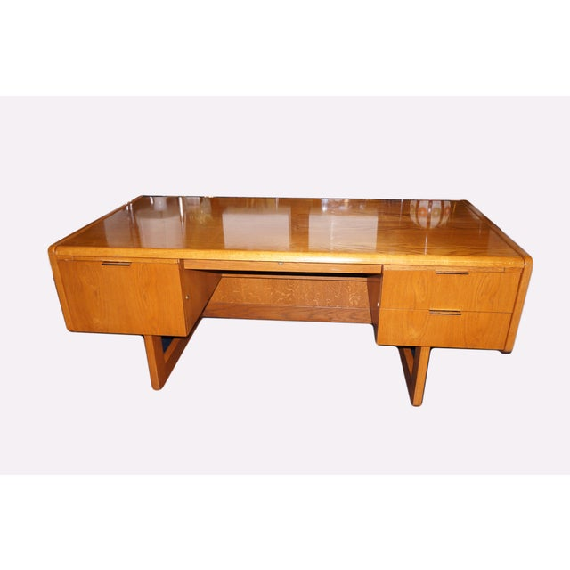 Mid-Century Modern Executive Desk and Credenza - Image 2 of 7