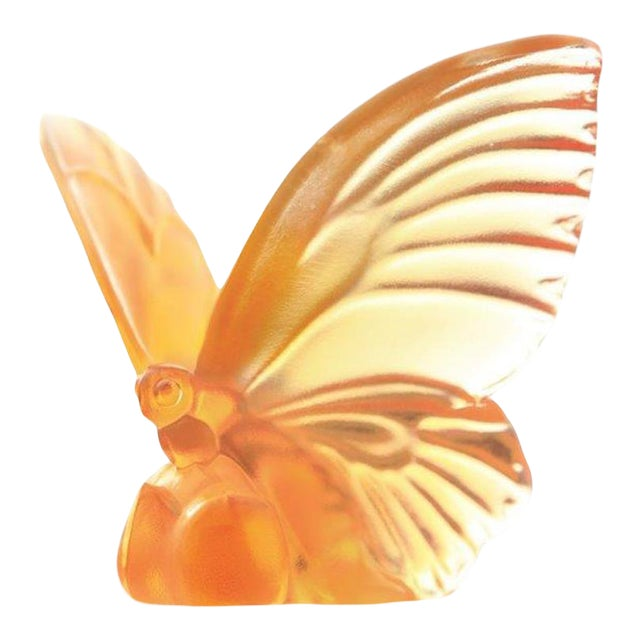 """Liuli Crystal Art Crystal Butterfly """"Wings of Hope"""" Statue For Sale"""