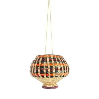 Vintage Colorful Hanging Basket Planter