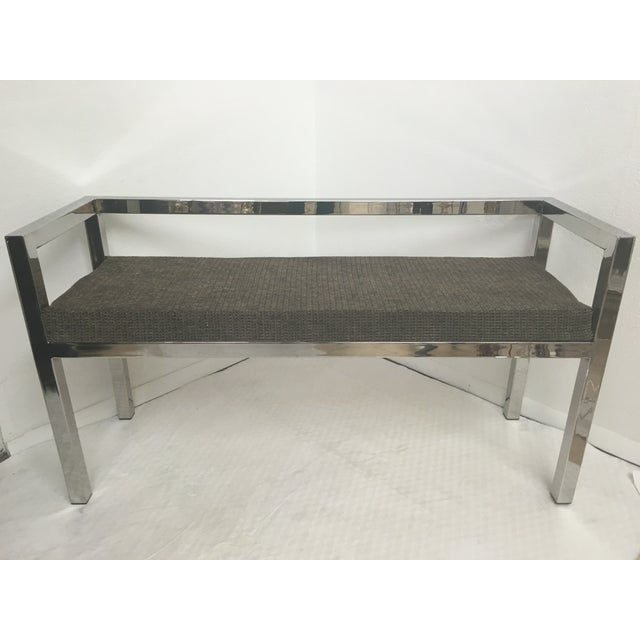 Offered is a stainless steel bench that has been polished, it is in perfect condition. It will need new upholstery. This...