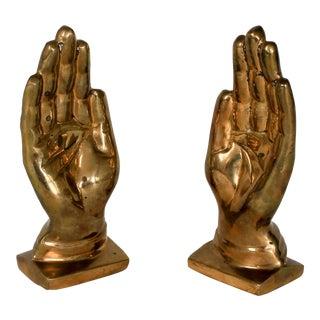 Brass Hands Bookends