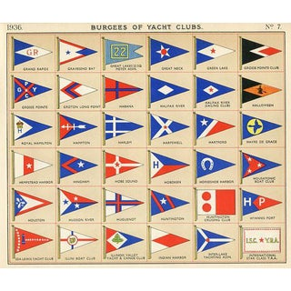 Flags of American Yacht Clubs, 1930s For Sale