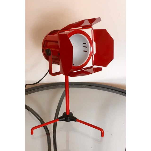Red Mid Century Red Tripod Spotlight Lamp For Sale - Image 8 of 8