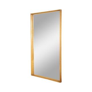 Mid Century Modern Large Walnut Rectangular Mirror For Sale
