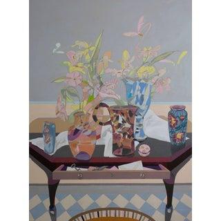 Nancy Lasar Harlequin - Still Life Painting 2017 For Sale