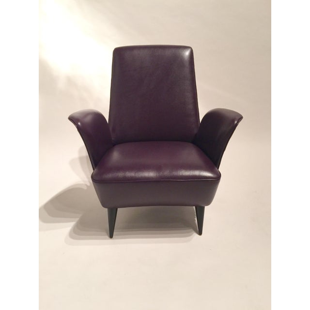 Italian Leather Armchairs - A Pair - Image 6 of 8