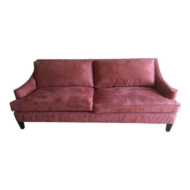 Arhaus Burnt Orange Velvet Sofa - Image 1 of 7