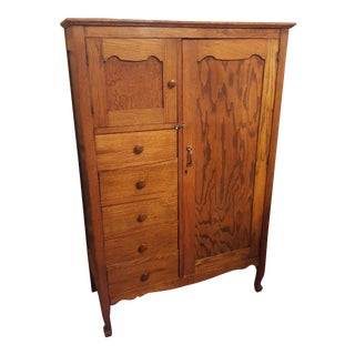 19th Century Oak Chifforobe