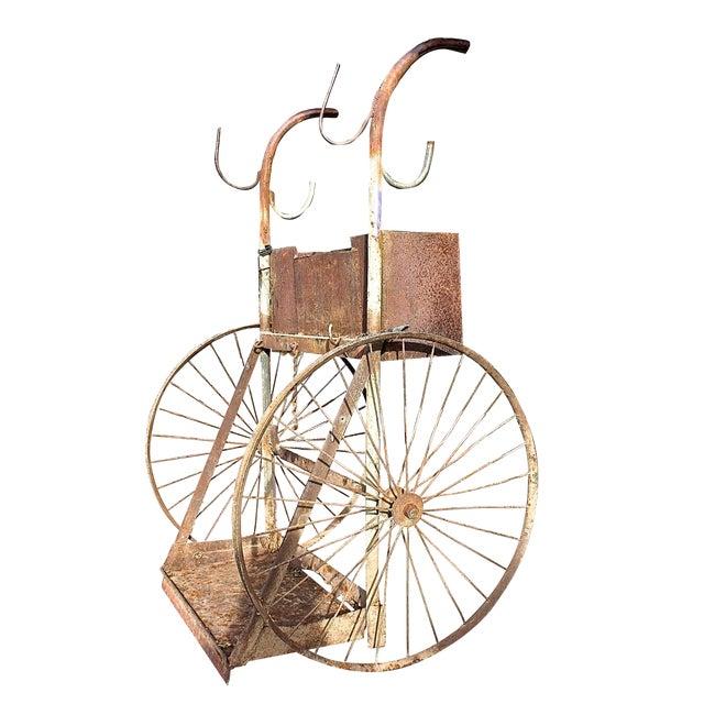 1930s Rusty Iron Welded Bar Cart - Image 1 of 7