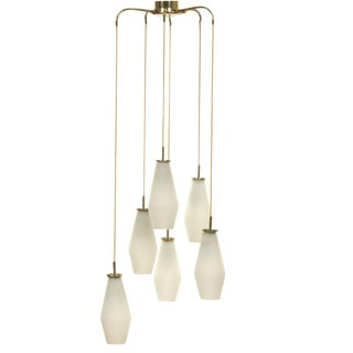 1950's Mid Century Modern Ceiling Fixture by Paavo Tynell Model For Sale
