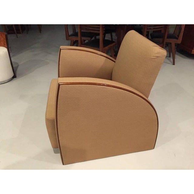 French Art Deco Club Chairs - A Pair - Image 2 of 9