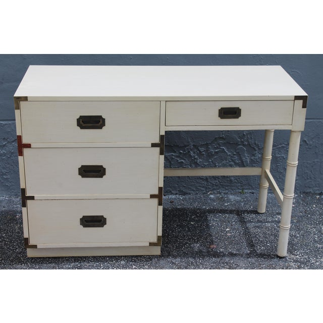 1970's Dixie Mid Century Campaign Writing Desk - Image 2 of 11