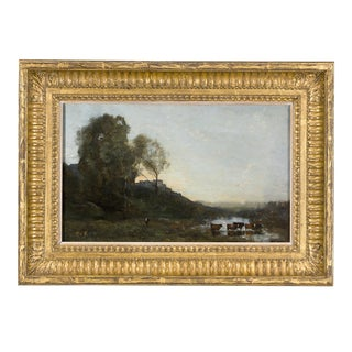 Le Gué Aux Cinq Vaches By Jean-Baptiste-Camille Corot For Sale