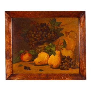 1920s French Oak Frame with Still Life For Sale