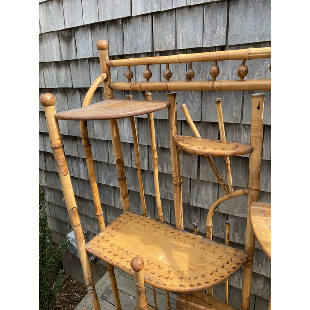 Vintage Asian Bamboo Etagere For Sale - Image 4 of 9