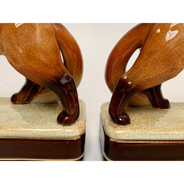 Staffordshire Style Fox Bookends – a Pair For Sale In New York - Image 6 of 12