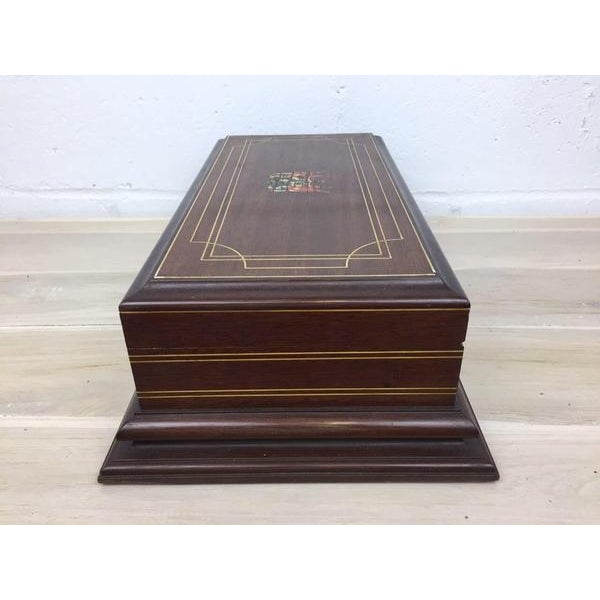 Vintage Cigar Humidor For Sale - Image 5 of 12