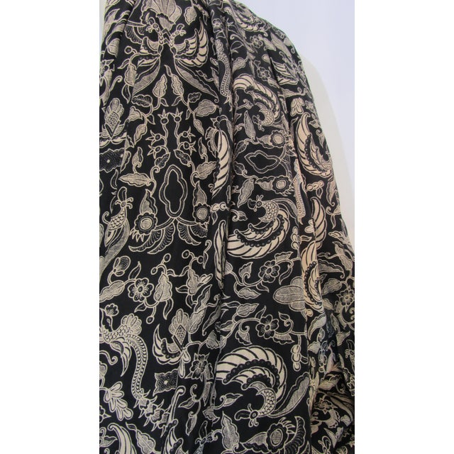 Black & Gold French Silk Damask Throw - Image 8 of 9