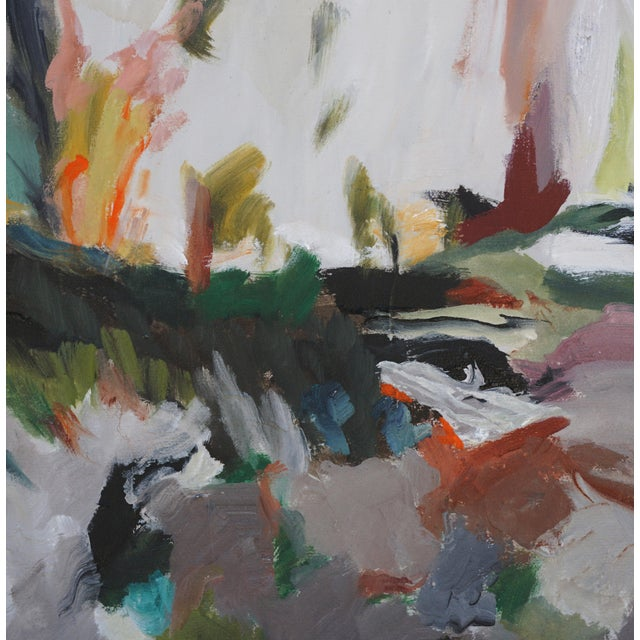 """Laurie MacMillan Laurie MacMillan """"So Close, and Yet So Far"""" Abstract Landscape For Sale - Image 4 of 6"""