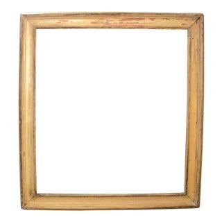 Antique Medium Sized Distressed Picture Frame For Sale