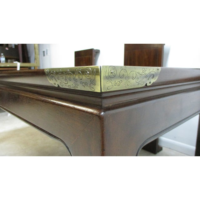 1970s Chippendale Henredon Pan Asian Dining Room Conference Table For Sale - Image 5 of 13