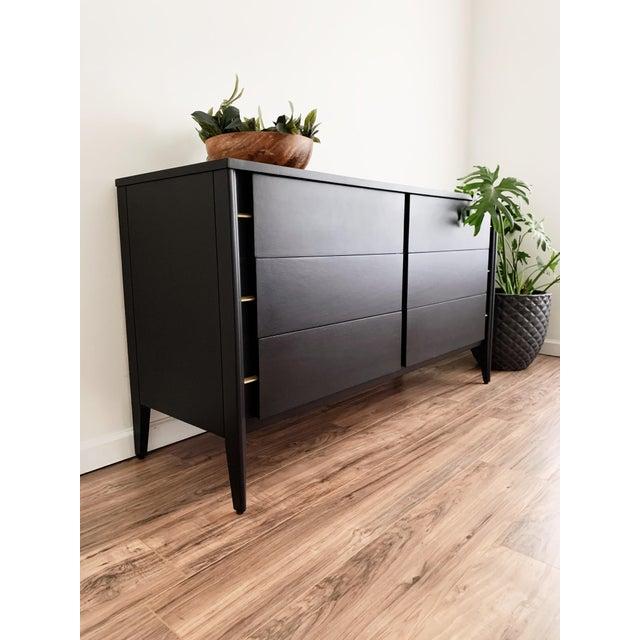 Mid Century Modern Matte Black Dresser For Sale In New York - Image 6 of 10