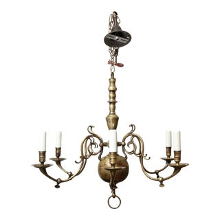 Vintage Georgian Style Chandelier For Sale