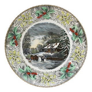 "Antique ""The Snowstorm"" Adams Dinner Plate Limited Edition for B. Altman & Co. For Sale"