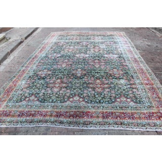 Large Vintage Kerman Wool Rug - 13′ × 14′ Preview