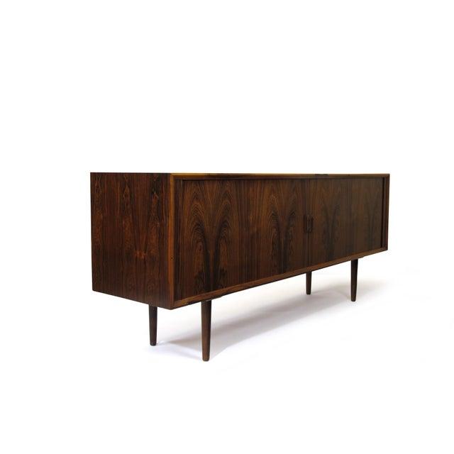 Sibast Møbler Arne Vodder for P. Olsen Sibast Mobler Rosewood Tambour Credenza Sideboard For Sale - Image 4 of 10