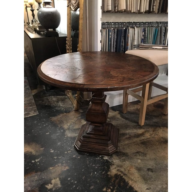 Gorgeous burl wood arranged in a beautiful inlay pattern makes the Zola lamp table a unique piece you will not see...