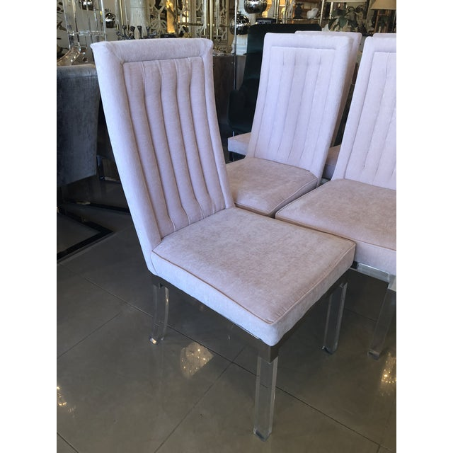 Charles Hollis Jones Lucite Dining Chairs - Set of 6 For Sale - Image 10 of 12