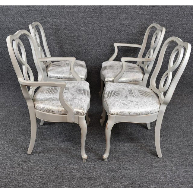 Set of Four French Country Louis XV Style Dining Chairs For Sale - Image 6 of 11