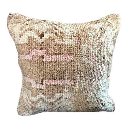 Turkish Oushak Antique Handmade Pillow Case For Sale