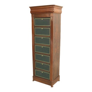 Late 19th Century Continental Semainier Chest of Drawers For Sale