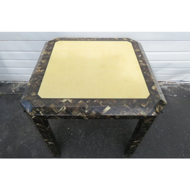 Enrique Garcel Tessellated Horn Card Game Table For Sale In Miami - Image 6 of 13