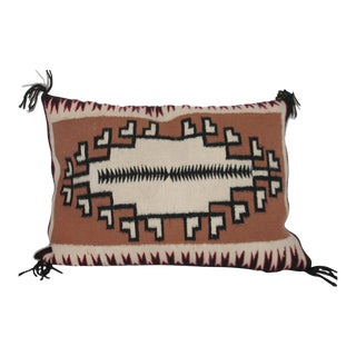 Navajo Indian Weaving Two Grey Hills Bolster For Sale