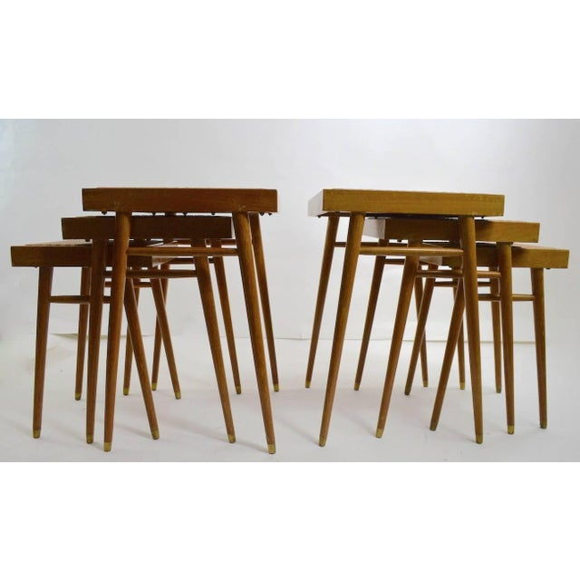 Brown Pair of Nesting Stacking Tables For Sale - Image 8 of 10